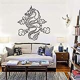 Tianpengyuanshuai Vinilo Tatuajes de Pared Dragon Fantasy Habitación para niños Story Wall Sticker Dormitorio Decoración del hogar Mural Chino 30X30cm