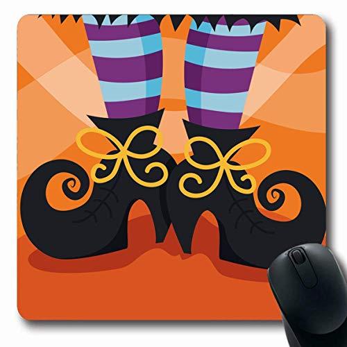 Mousepad Oblong Amazing Witchs Bootsfoot Holidays People Skurrile Mode Hexenfuß Modische Spaßschuhe Strumpf Rutschfeste Gummi Mauspad Büro Computer Laptop Spielmatte