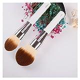 Wtuxchib Brochas de Maquillaje 2pcs / Set Big Size Powder Brush + Foundation Makeup Cepillo