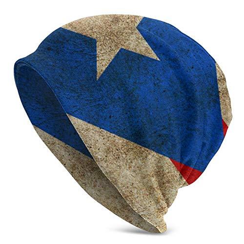 QUEMIN Vintage Apenado Bandera de Puerto Rico Slouchy Beanie Hat Gorras Invierno...