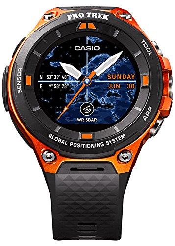 Casio Herren Pro Trek Uhr, Schwarz/Orange
