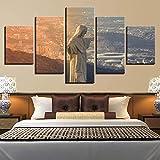 Leinwanddruck Leinwand Gemälde Wandkunst Rahmen 5 Stücke