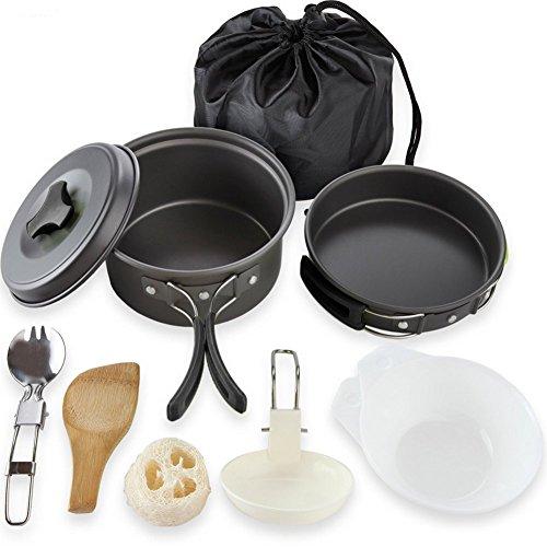 CAOLATOR 8 en 1 Picnic Camping Senderismo Portátil Equipo de Cocina al Aire Libre, Equipo de Cocina de Camping al Aire Libre