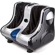 Hmrelax Foot Massager Calf Massage With Shiatsu Kneading Rolling Vibration Heating Function (silver),