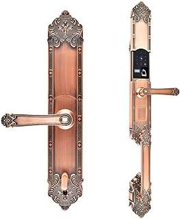 Digitale deurslot Smart Security Deur Vingerafdruk Lock Appartement Deur Puur Koper Europese Dubbele Hoofd Houten Deurslot...