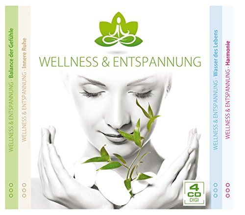 Wellness & Entspannung - 4er CD-Digi Box (Balance der Gefühle, Innere Ruhe, Wasser des Lebens, Harmonie)