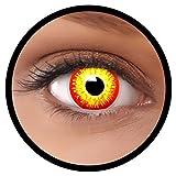 Farbige Kontaktlinsen rot gelb ES + Behälter, weich, ohne Stärke in als 2er Pack (1 Paar)-...