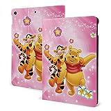 Cartoon Winnie The Pooh Bear Tigger ケースフィットiPad 7 th 10.2インチケース、超薄型軽量スタンドレザーケース/自動ウェイクスリープ