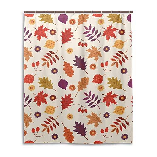 JSTEL Rideau de Douche décoratif 100% Polyester Motif imprimé 152 x 183 cm
