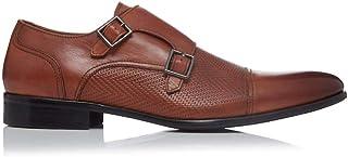 Dune Mens Shores Embossed Textured Double Buckle Monk Formal Smart Evening Workwear Shoe