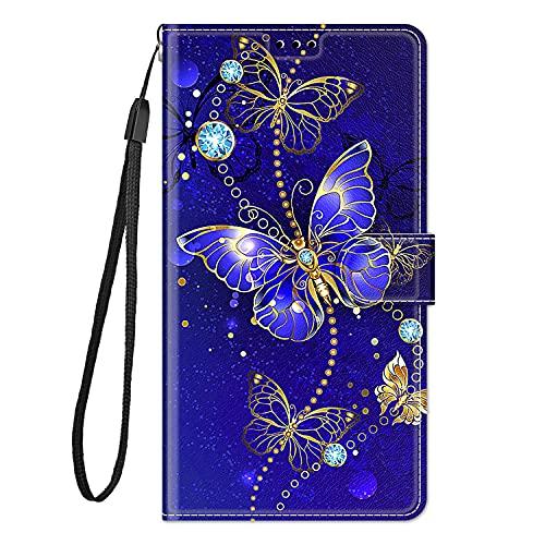 zl one Compatible con/reemplazo para funda de teléfono Xiaomi Redmi Note 7 / Note 7 Pro PU cuero protección lindo pintado ranuras para tarjetas cartera funda (c11)