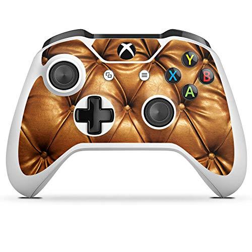 DeinDesign Skin kompatibel mit Microsoft Xbox One S Aufkleber Folie Sticker Leder Muster Sofa Leder Couch Look
