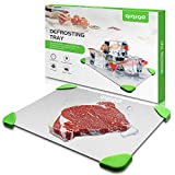 QIQIGO Defrosting Tray, Thawing Plate with HDF High-density Aerospace Alloy, Quickly Defrosting of Frozen Foods, No Electricity, No Chemicals, No Microwave