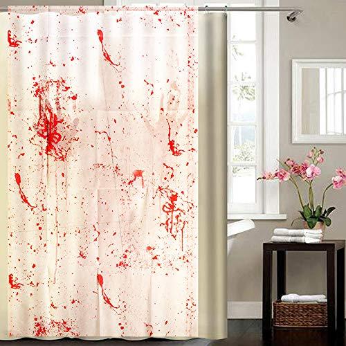 jieGorge Eid Ramadan, Home DecorBlood Splatter Duschvorhang Spatter Psycho Horror Halloween Badezimmer Stoff, mehrfarbig