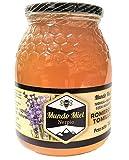 Miel de abeja Natural, Cruda y Pura de ROMERO y TOMILLO. Directa del Apicultor. Nerpio, Sierra del Segura, 100% NATURAL- Empresa Familiar- Desde 1972- Origen ESPAÑA 1Kg