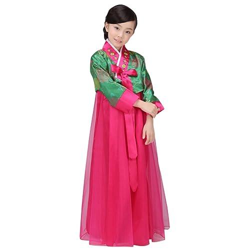 b01a8e731 CRB Fashion Girls Traditional Kids Korean Hanbok Outfit Dress Costume