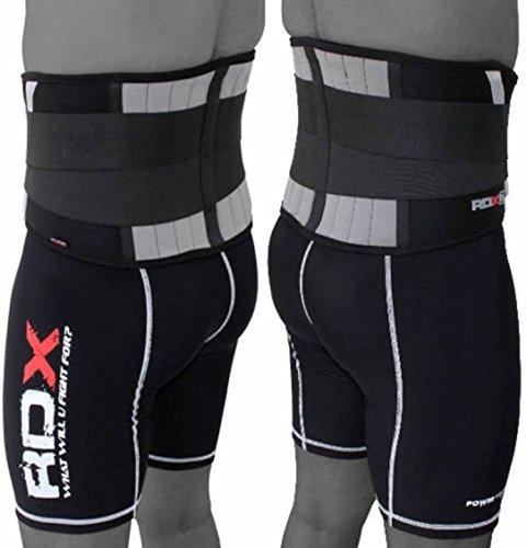 RDX Schmerzlinderung Lumbal Gym Neopren Gürtel Unteren Rückenstütze Unterstützung Übung Fitnesstraining Gewichtheben Gürtel (MEHRWEG)