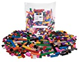 Strictly Briks Set de Ladrillos de construcción - 672 Piezas de 12 Colores Diferentes - Piezas Sueltas - Compatible con Todas Las Grandes Marcas