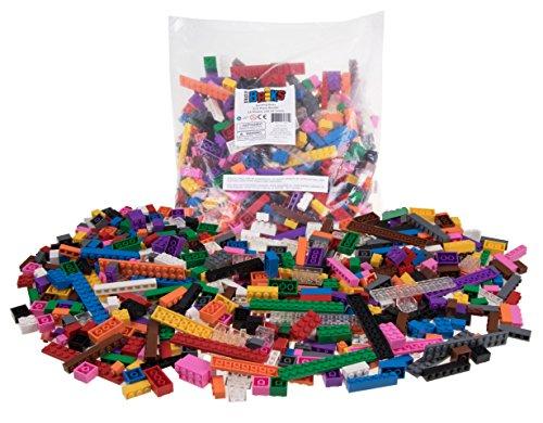 Strictly Briks Premium-Bausteine-Set - kompatibel mit Allen führenden Marken - 12 Farben - 672 Stück