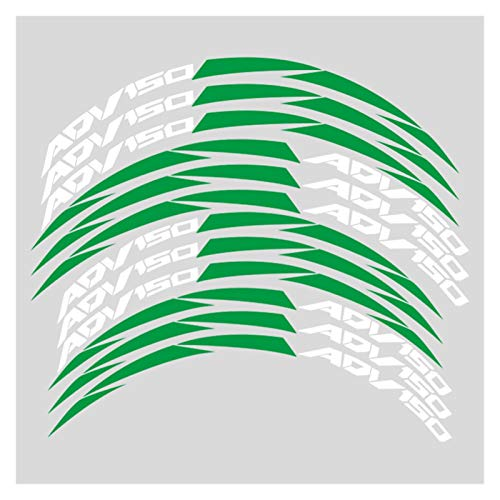 Bazutiwns Un Conjunto de calcomanías de Ruedas de Motocicleta de 12 unids Impermeable Reflectante Pegatinas Rim Stripes para Honda ADV150 XADV HSLL (Color : 1)