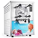 Olibelle 1400W 16-20L/H Machine à Crème Glacée Professionnelle en Acier Inoxydable Sorbetiere Electrique Commerciale Ice Cream Machine(YKF-116)