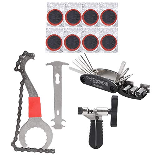 Kit de Herramienta de Reparación de Bicicleta Kit De Herramientas De Cadena De Bicicletas Reparación De Bicicletas Cadena MultiTool Cutter Checker Neumático Reparación De Parches Para Bicicletas De Mo