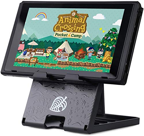 LightPro Switch Stand Animal Crossing Playstand for Nintendo Switch and Switch Lite, Foldable, Adjustable, Radiating(Black)