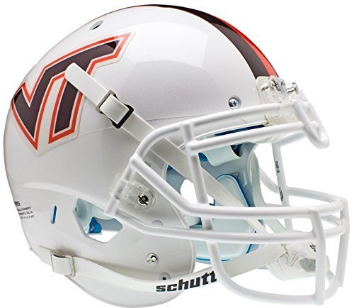 VIRGINIA TECH HOKIES Schutt AiR XP Full-Size AUTHENTIC Football Helmet (WHITE/STRIPE) by ON-FIELD