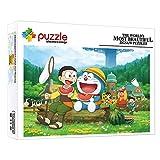 FFGHH Mini Puzzles Doraemon Puzzles Infantiles Puzzle Puzzle 1000 Piezas Mejor Regalo De Cumpleaños para Adultos Niños Amigo 14.96In X 10.23In