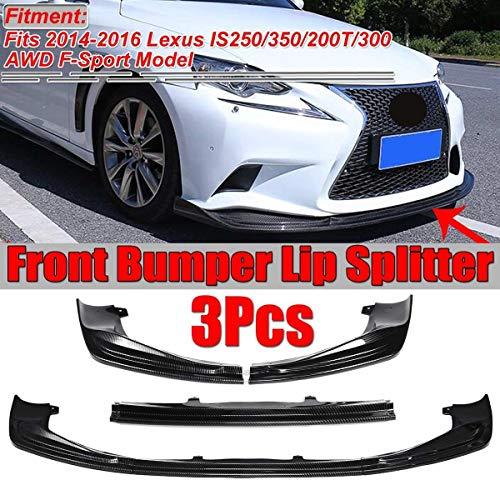 XIANGSHAN 3Piece Carbonlook Auto Frontstoßstange Splitter Lip Kit Diffuser Spoiler for Lexus IS250 350 200T 300 AWD F-Sport 2014-2016