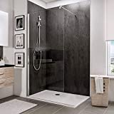 ELEGANT 900mm Walk in <span class='highlight'>Shower</span> Enclosure 6mm Tempered Safety Glass Wetroom <span class='highlight'>Shower</span> Screen Panel