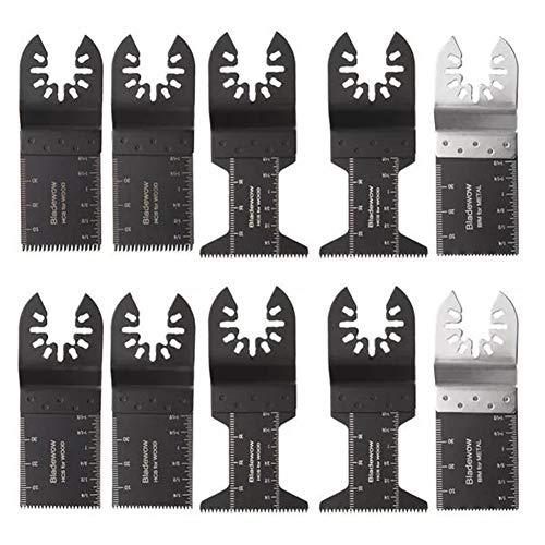 Junlianxianyanglijua Durable pour Une Longue période. Outils Lames de scie Oscillant Multi Tool 10 pcs for Porter Cable Oscillant
