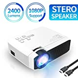 Azk Projectors, Mini Video Projector, 50% Brighter 176'' Display Portable Movie Projectors Support HD HDMI USB TF VGA for Laptop PC Xbox iPhone Android
