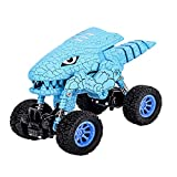 HTHONOR . TRUST Dinosaur Toys Car for 2 3 4 5 6 Years Old Boy Dino Pull Back Vehicles for Kids and Toddlers Double Power No Need Battery Monster Truck for Age 3+