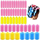 butterfunny 56 Pieces Sponge Curlers for Hair Styling, Foam Sponge Hair Rollers, Flexible Hair Styling Curlers(6 Sizes)
