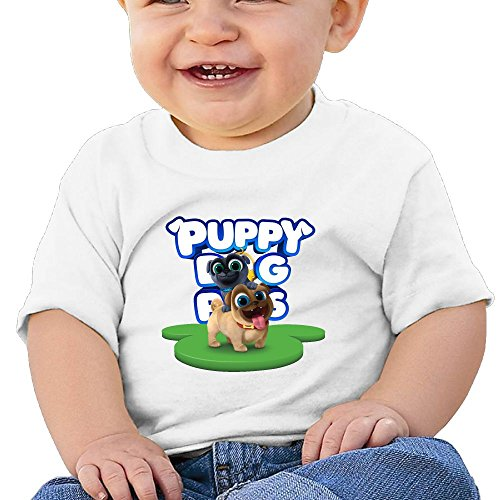 Puppy Dog Lovely Pals Baby Boys Novelty Short Sleeve Tank Top Cotton T-Shirt White 18 Months