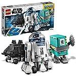 I bambini impareranno a programmare, sviluppando le loro capacità di problem solving creativo mentre giocano con questo giocattolo Stem interattivo 3 droidi LEGO Star Wars costruibili e oltre 40 missioni interattive Questo divertente giocattolo tecno...