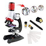 Science Microscope Kit for Children 100x 400x 1200x Refined Scientific Instruments Toy Set for Early Education...