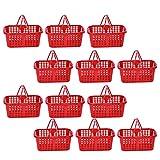Toyvian 20 Unidades de Cestas de Plástico con Asas de Juguete Cestas de Fruta Pequeño Cubo para Ducha Armario Cocina Jardín Baño