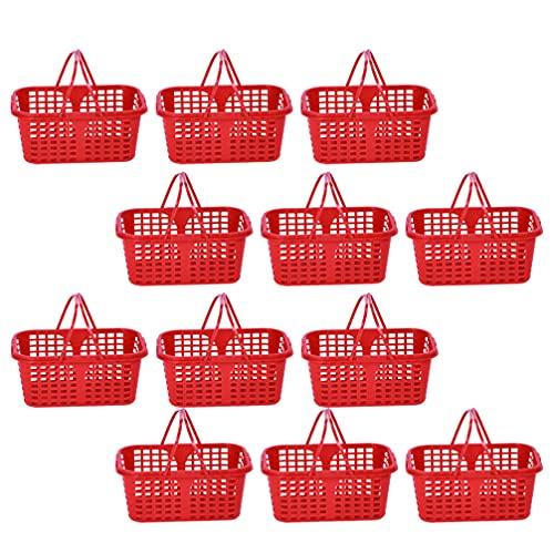 Toyvian 20 Unidades de Cestas de Plástico con Asas de Juguete Cestas...