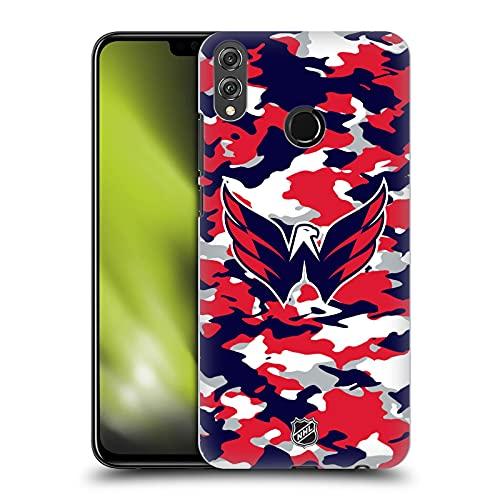 Head Case Designs Licenciado Oficialmente NHL Camuflaje Capitales de Washington Carcasa rígida Compatible con Huawei Honor 8X / View 10 Lite