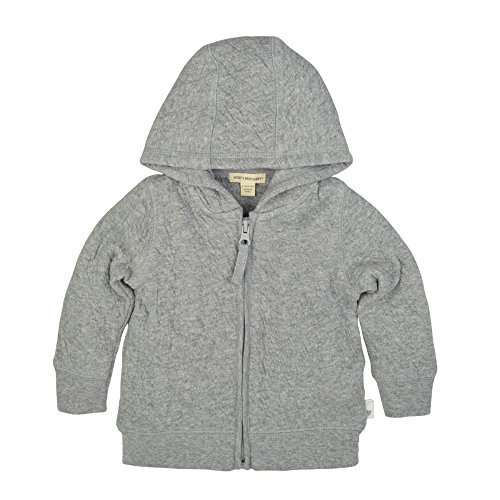 Burt's Bees Baby Baby Sweatshirts, Lightweight Zip-Up Jackets & Hooded Coats, Organic Cotton, Heather Grey Quilted Jacket, 6-9 Months