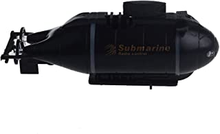 CMrtew 777-216 Mini RC Nuclear Submarine High Speed Boat Remote Control Drone Simulation Model Gift Toy Kids (Black)