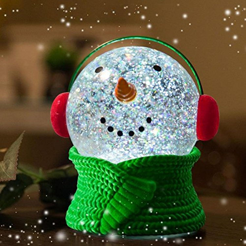 AOKARLIA LED Nachtlicht Baby Lichter, Schneemann Kristallkugel Nachttischlampe, Schlafzimmer Nachttisch Beleuchtung