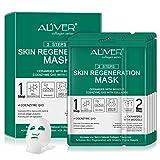 Paquete de 5 mascarillas faciales de colágeno, hidratación profunda e instantánea, con ácido...
