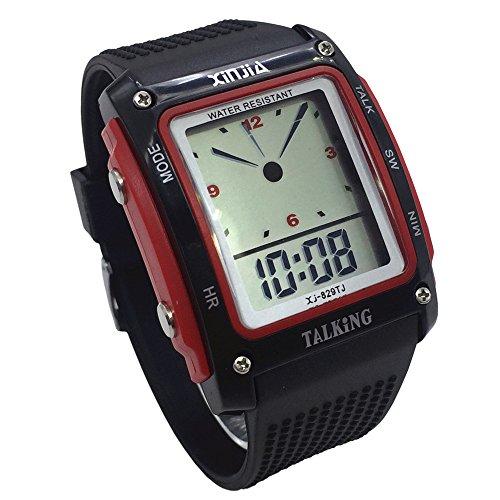 Nergo Reloj Parlante en Español para Ciegos, Niños, y Los Ancianos, Deportes Electrónicos Hablar Relojes Gatget Regalo (829TS)