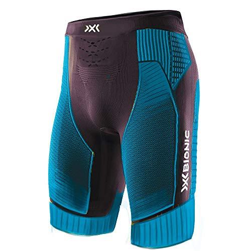 X-Bionic Effektor 4.0 Run Men Shorts Homme, Black/Teal Blue, FR : 2XL (Taille Fabricant : XXL)