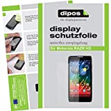 dipos I 2X Schutzfolie matt kompatibel mit Motorola Razr HD Folie Bildschirmschutzfolie
