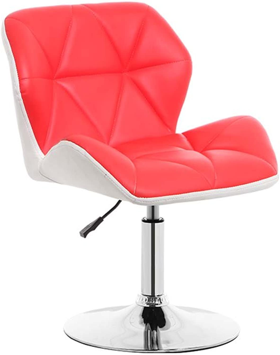 WFFXLL Bar Chair bar Stool European high Stool Bar Stool (color   White and red)