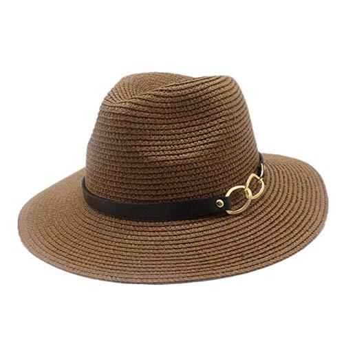 Sombreros De Paja Gorra De Mujer Sombrero De Paja Caqui para Hombre Gorras De Panamá Estilo Sombrero para El Sol Vacaciones En La Playa Sombreros Y Gorras Masculinas Clásicas